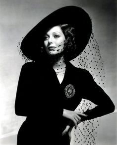 """Loretta Young""  - Repinned via: Laureen Burger via: my-ear-trumpet.tumblr.com -"