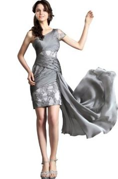 eDressit Noble Gray Lace Evening Dress Party Cocktail Gown (04120708),£99.99
