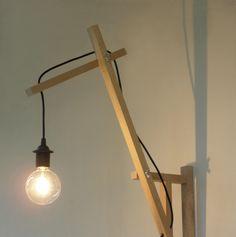 minimal wall lamp wall sconce by TassoStudio on Etsy Lampe Rose, Desk Lamp, Table Lamp, Black Brick Wall, Wood Sconce, Lampe Applique, Wall Lights, Ceiling Lights, Mason Jar Lighting