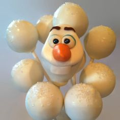 Olaf Cake Pops; Disney's Frozen by The Dapper Dipper on Etsy