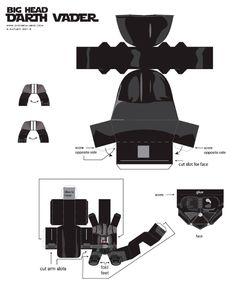 Blog Paper Toy Big Head Darth Vader template preview Big Head Darth Vader papertoy