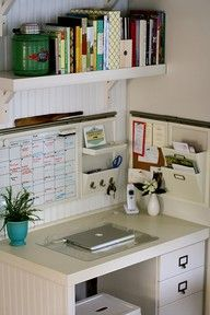 Love the organization and the calendar. An idea for my desk area in the kitchen. :)