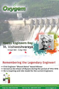 Remembering the Legendary Engineer! Engineers Day, Pipeline Project, Benefits Of Drinking Water, Water Branding, The Pipeline, Create Awareness, Local Events, Health Care