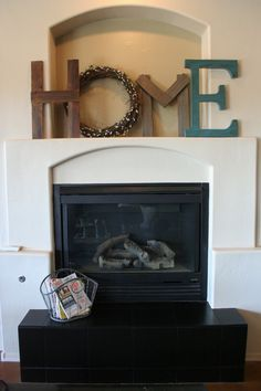 This would look better with a more rustic fireplace...maybe stone? But I still love it.