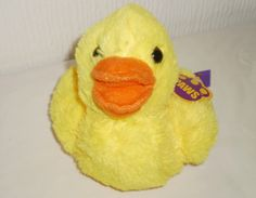 Paws Adorable Yellow Soft Toy Plush Duck Duckling Bird, New with Tags