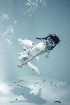 Rocketumblr | 古賀学 Underwater Knee-High Girls plus