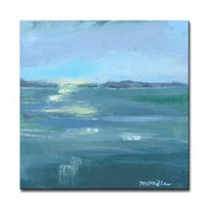 'Dusk on the Water' Painting Print on Wrapped Canvas