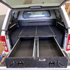 RMR 1300mm Ute Drawers System Toyota Hilux, Holden Colorado, Isuzu D Max, Vw Amarok, Metal Drawers, Tracking System, Ford Ranger, Galvanized Steel, Steel Frame