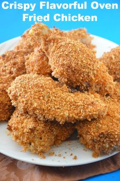This Crispy Baked Fried Chicken recipe really is crispy and super flavorful. I love Fried Chicken! I have tried many Baked Fried Chicken Recipes.