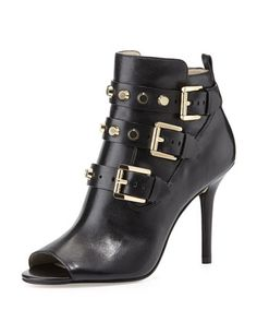 28f0eadfdfe Tory Burch. See more. Bryn Peep-Toe Bootie by MICHAEL Michael Kors at Neiman  Marcus. Leather Booties