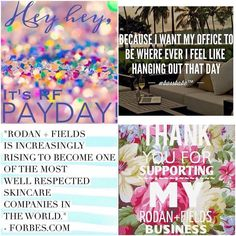 Its Payday!!! I cannot be more excited for all the positive things RF gives me.  I have THE most supportive team!  Best decision EVER #rodanandfields #lovemyrffamily #payday #bossbabe by annechan86