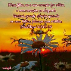 #Provérbios #Sabedoria #Retidão #Verdade #GuardeSeuCoração #AlegreOCoraçãoDoPai #DeusFiel #rosiigiil