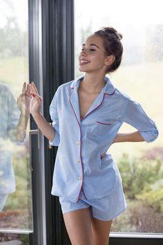 Piżama damska z krótkimi spodenkami Shelly Floral - Lunaby