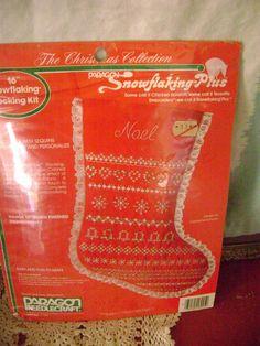 "Paragon Snowflaking Cross Stitch Stocking Kit The Christmas Collection 16"" 1984 #Paragon #Stocking"