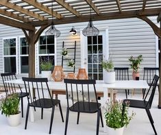 We love spending time outside. Even if the pollen has our eyes watering like we just watched Old Yeller. Great outdoor living spaces provide an extra flair to your home. Cheap Pergola, Backyard Pergola, Pergola Plans, Wooden Pergola, Outdoor Tiles, Outdoor Spaces, Outdoor Living, Outdoor Decor, Yard Crashers