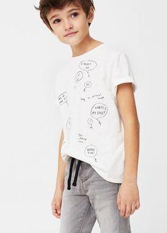 Yazılı baskılı tişört | MANGO KIDS