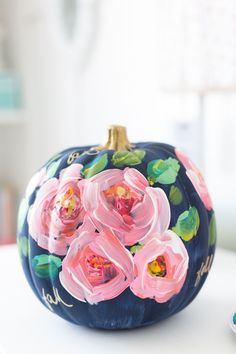 DIY painted pumpkin