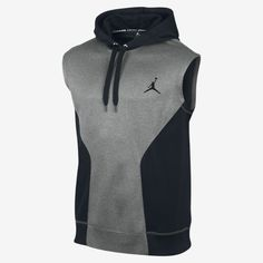 759d7e094f51b Jordan Dominate Sleeveless Hoodie - Men s - Black   White