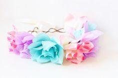 oversize pastel flower head crown multicoloured by kisforkani