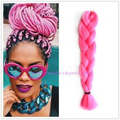 Pink box braids, every beautiful girl should has her own color