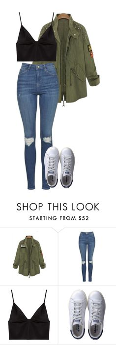 """Untitled #1632"" by elvirasuperman ❤ liked on Polyvore featuring Topshop, T By Alexander Wang and adidas"