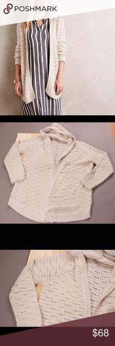 Anthropologie Sleeping on Snow knit cardigan XL Mohair cotton blend popcorn knit hooded cardigan. Hooded Cardigan, Knit Cardigan, Cardigans, Sweaters, Fashion Design, Fashion Tips, Fashion Trends, Popcorn, Anthropologie