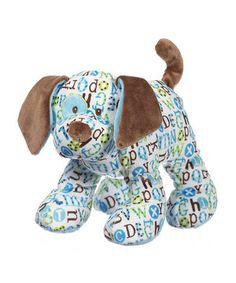 Look what I found on #zulily! GANZ Blue & Brown Pitter Pattern Puppy Plush Toy by GANZ #zulilyfinds