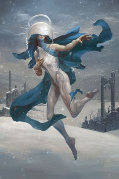 SHELEGIEL, ANGEL OF SNOW  Shelegiel dances silently upon the house of man leaves no trace upon the sleeping land