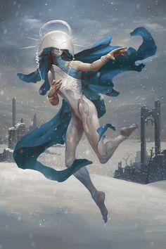 Shelegiel Angel of Snow by Peter Mohrbacher