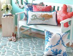Beach Living - Coastal-Chic Rugs, Pillows & Decor
