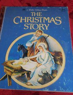 Vintage 1952 Children's Little Golden Book THE CHRISTMAS STORY Nativity Jesus - http://books.goshoppins.com/childrens-books/vintage-1952-childrens-little-golden-book-the-christmas-story-nativity-jesus/
