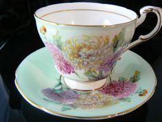 Paragon Chrysanthemum teacup and Saucer