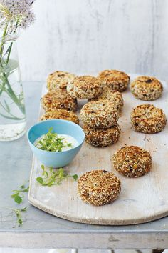 Vegane Sesam-Burger - basisches Rezept-amicella