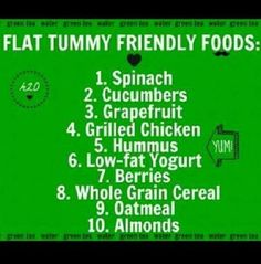 Flat tummy foods to go with a good workout. Get Healthy, Healthy Tips, Healthy Choices, Healthy Foods, Healthy Recipes, Fit Foods, Eating Healthy, Healthy Munchies, Diabetic Recipes
