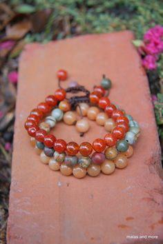 Sacral Chakra Stack  Meditation Inspired Yoga Beads by malasanmore, $44.00