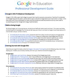 Educational Technology and Mobile Learning: All Resources Teachers Need from Google in Education