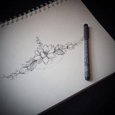 Resultado de imagem para sternum tattoo flower