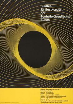 Tonhalle-Gesellschaft Zürich / Funftes Junifestkonzert / Poster / 1958