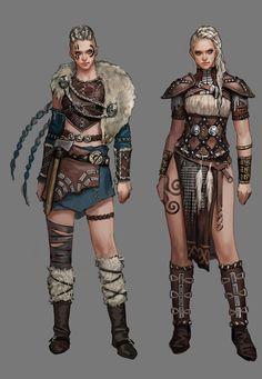 Viking Character, Female Character Design, Character Design Inspiration, Character Concept, Character Art, Warrior Outfit, Warrior Costume, Fantasy Female Warrior, Fantasy Women
