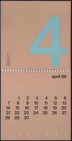 Wim Crouwel, Kalender 1968