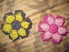 Flor de Origami em tecido