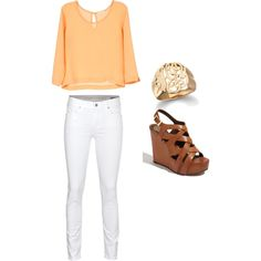 """orange"" by mollycline on Polyvore"