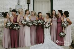 Fall bridesmaid dresses - Inspiration for Pink Bridesmaid Dresses – Fall bridesmaid dresses Dusty Rose Bridesmaid Dresses, Dusty Rose Dress, Bridesmaid Dress Colors, Wedding Bridesmaids, Different Bridesmaid Dresses, Wedding Dress Black, Mauve Wedding, Rose Wedding, Fall Wedding