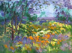 "Happy Day by Jean Vadal Smith Bentson | $100 | 12""w x 9""h | Original Art | http://www.vangoart.co/buy/art/happy-day @VangoArt"