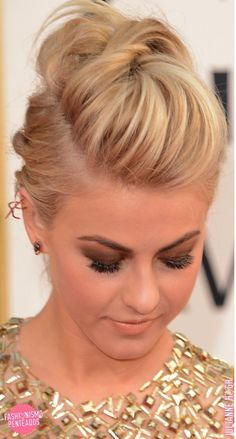 faux pompadour               JULIANNE HOUGH