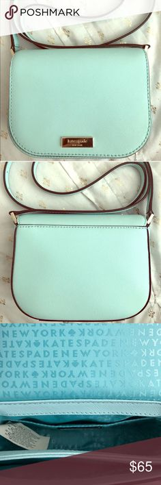 Kate Spade - Newbury Lane Carsen Brand new / Never wore - Cute little (Tiffany blue) purse is perfect for traveling light. Too small for my taste. kate spade Bags Shoulder Bags
