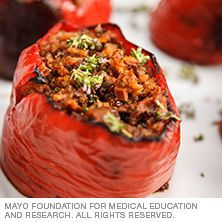 Stuffed quinoa peppers - Mayo Clinic
