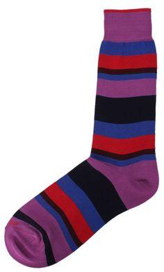 Striped Socks | Duchamp Purple/Multi-colour Socks | @ KJ Beckett #mens #socks