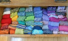 More Socks, gorgeous hand knitted socks lined up in a drawer.