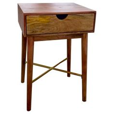 Wood One Drawer Accent Table - Threshold™ : Target